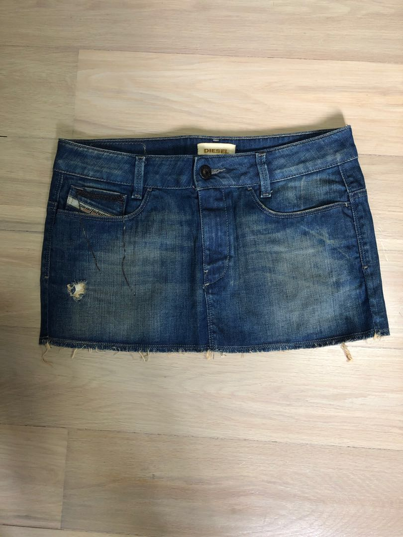8f1546541 Diesel Denim Skirt, Women's Fashion, Clothes, Pants, Jeans & Shorts ...