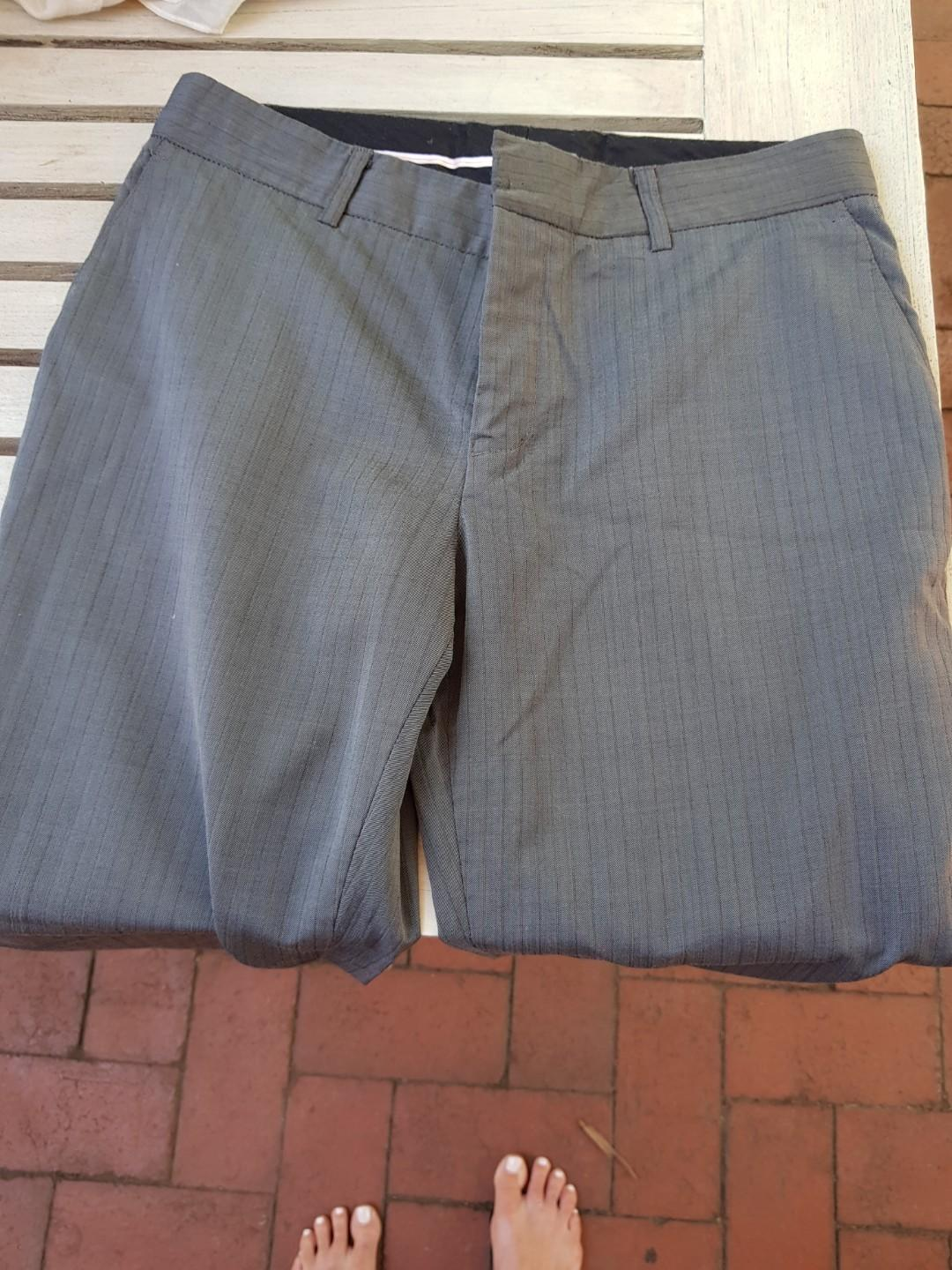 Farage grey suit pants. Size 8