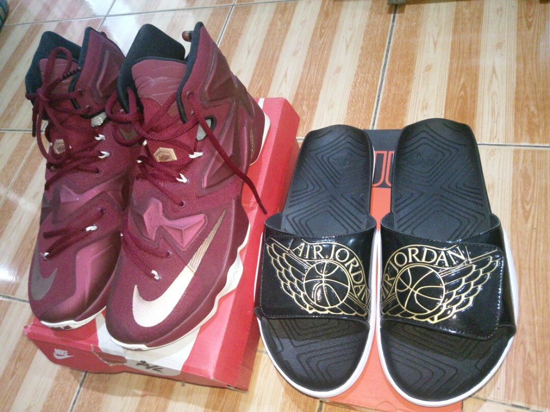c57ba4641f5e For Sale LeBron 13 + Air Jordan Hydro 7 Slides