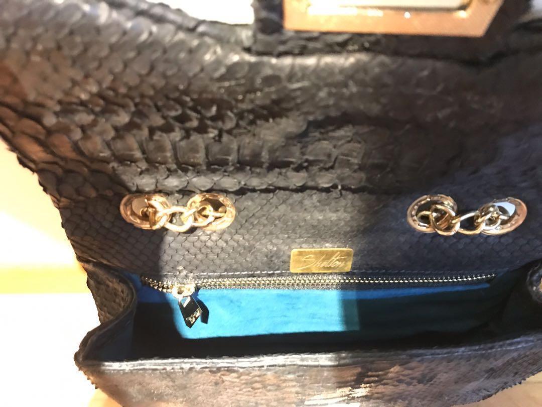 Genuine snakeskin leather bag (Ling Wu inspired)