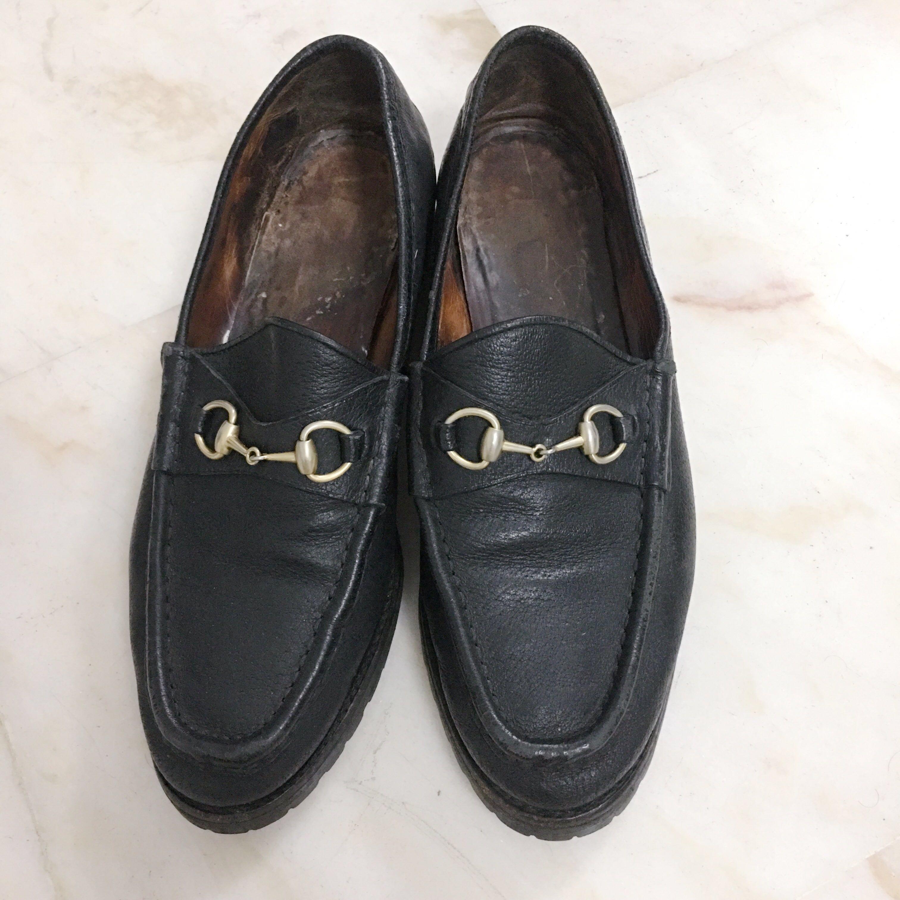 31816f588c9 Gucci Black Horsebit Loafers 101 6105