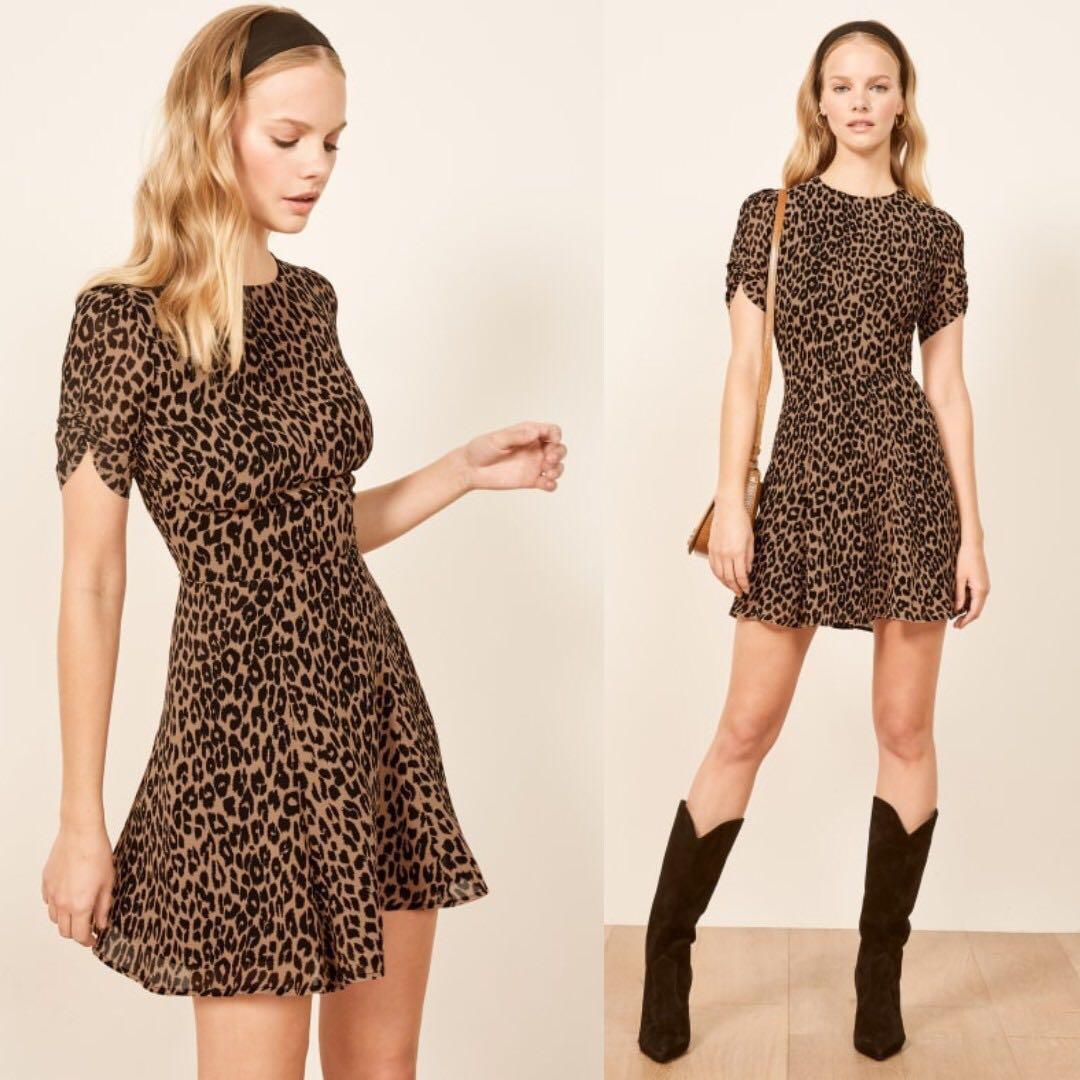 8b7bef0956812 INSTOCKS Gracie short sleeve skater dress - leopard print, Women's ...