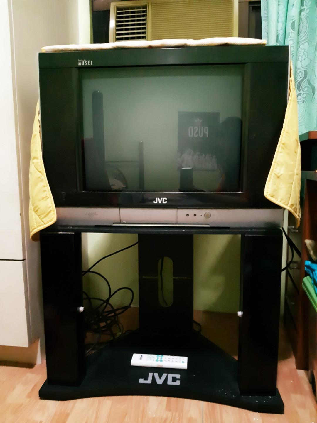 new arrival da83c 4c277 JVC tv 21 inches with tv stand included on Carousell
