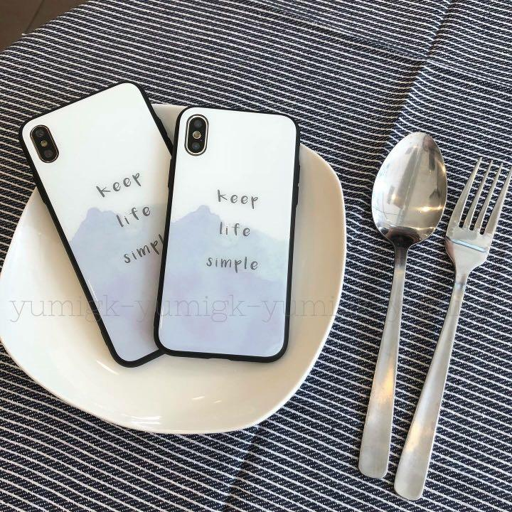 Keep Life Simple Tempered Glass iPhone Case