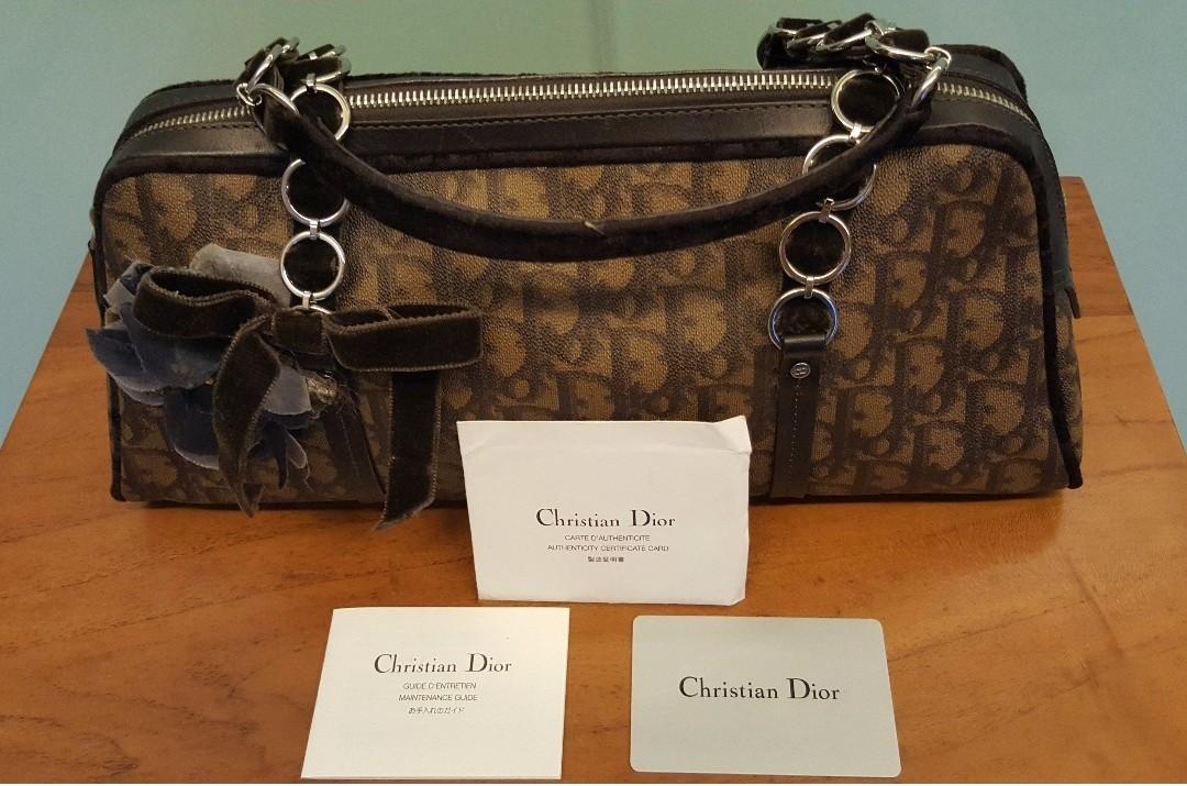 c72a1d4e582f Like new authentic CD Christian Dior handbag - logo-embossed brown ...