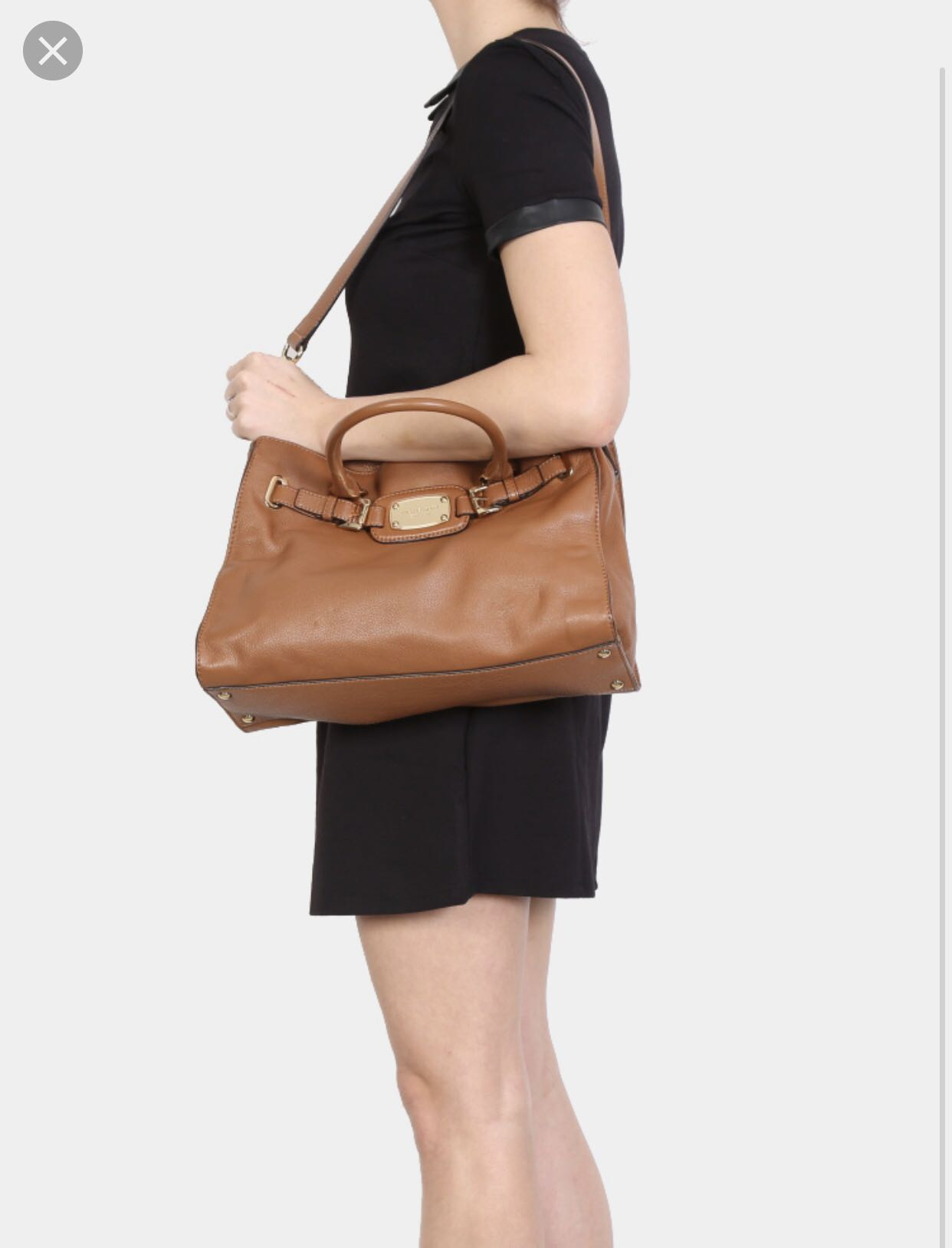 74210a0310f2 Michael Kors - Hamilton East West Brown Tote - Large, Women's ...