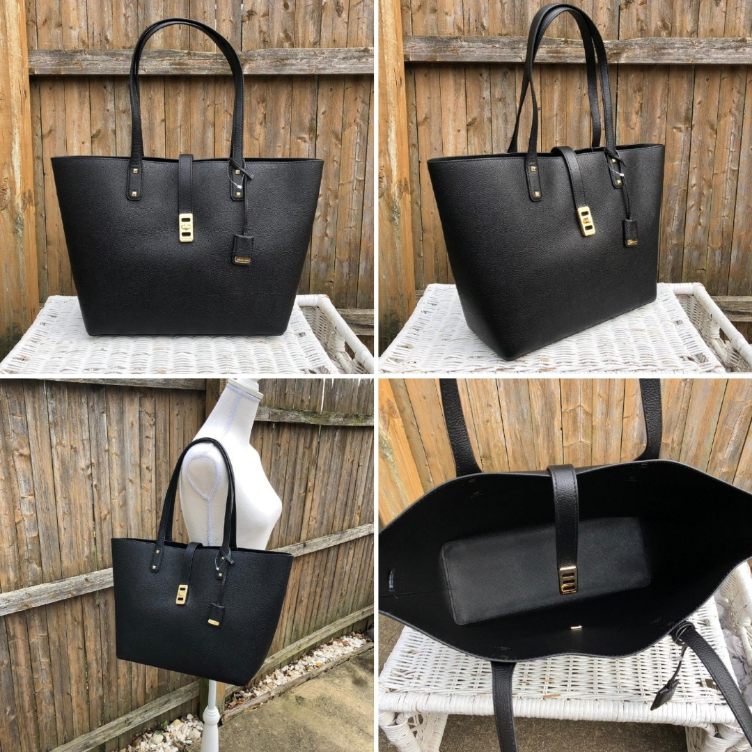 5d57e49d93ae Michael Kors Karson Large Carryall Tote in Luggage/Black, Luxury ...