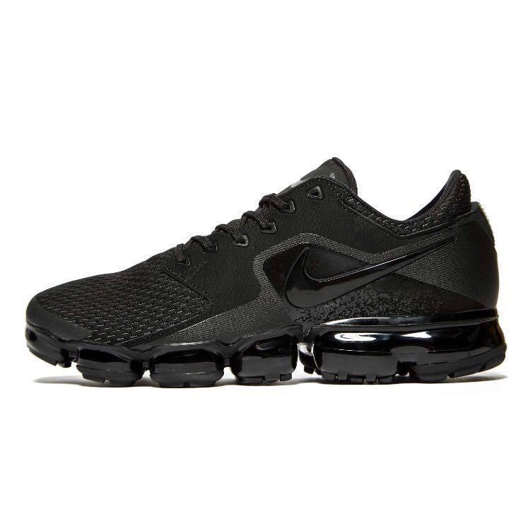 Nike Air VaporMax Mens Shoes Sneakers Basketball Triple Black Brand New