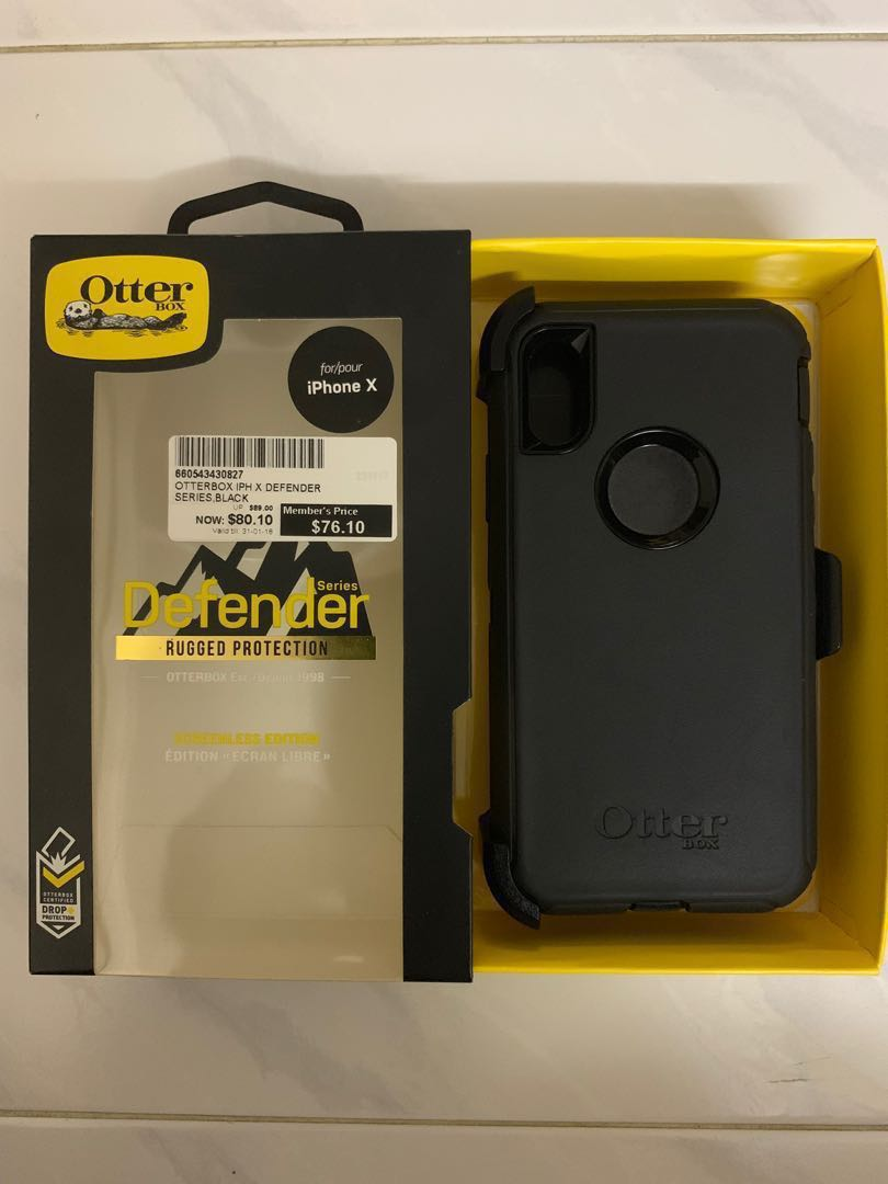 079eb39f900 Otterbox Defender Series (Black) for IPhone X, Mobile Phones ...
