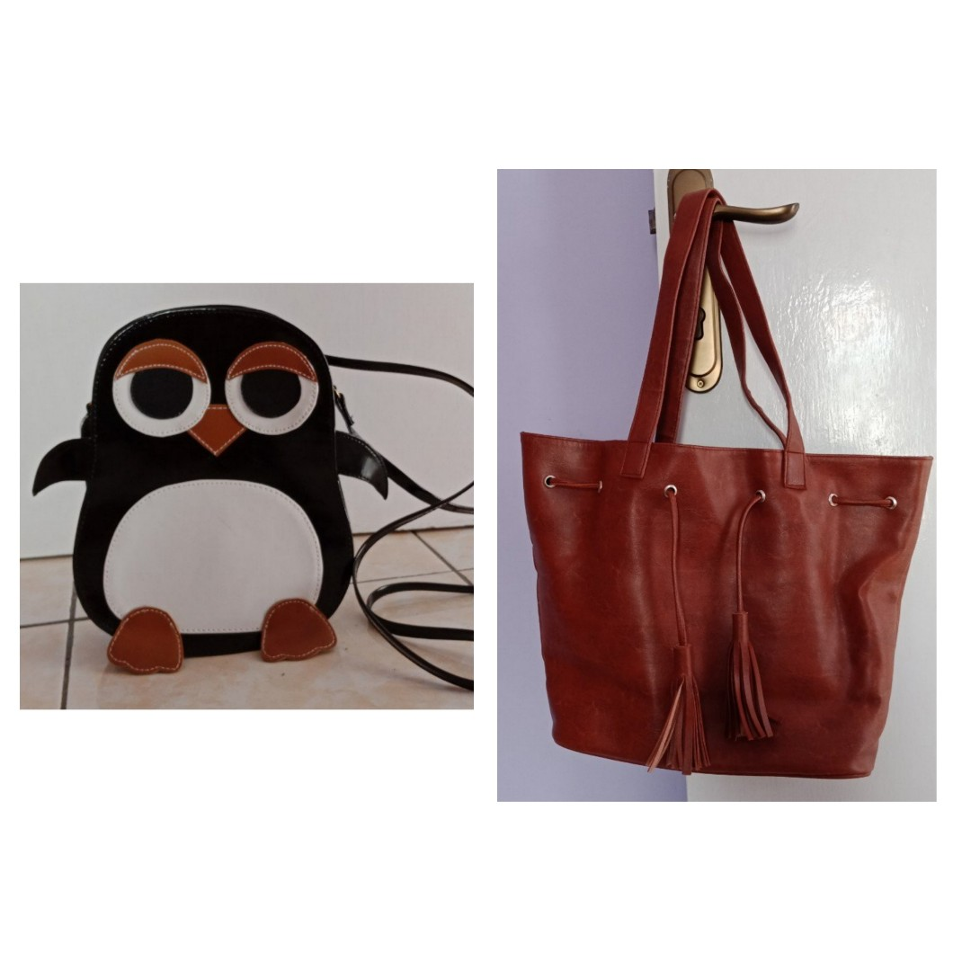 cc6052da6 PAKET TAS MAIN SLING BAG PINGUIN  PENGUIN   SHOULDER BAG CATCHERY ...