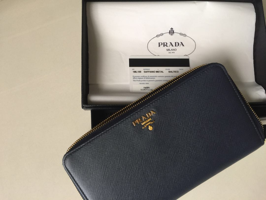 430b07944aa91a Prada Long wallet for cheques and passport, Luxury, Bags & Wallets, Wallets  on Carousell
