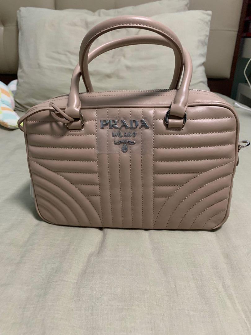 Prada Soft Calf Impunture Diagramme Handbag 25cm, Luxury, Bags ... cece2b4cc4