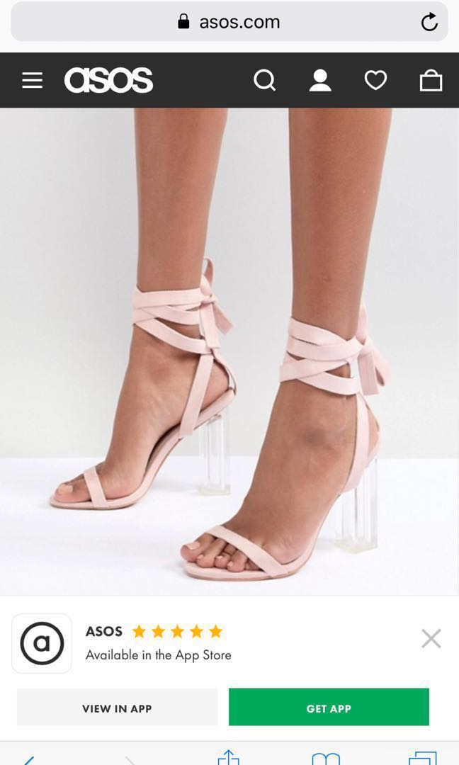 a2259be718 Size UK4 pretty little things Perspex heels blush suede high heel ...