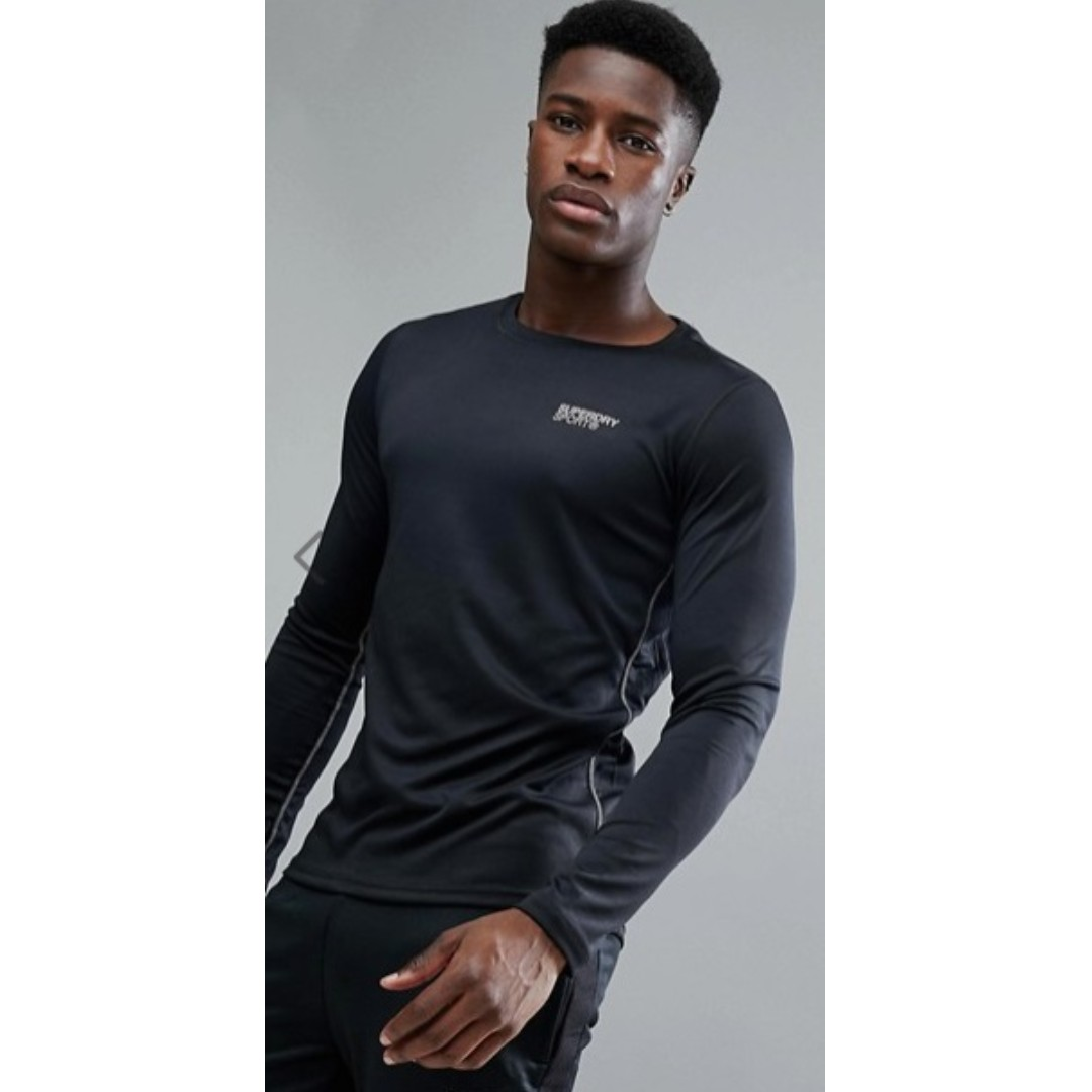 0b5761d53 Superdry Sport active half tone l/s graphic t-shirt in black, Men's  Fashion, Clothes, Tops on Carousell
