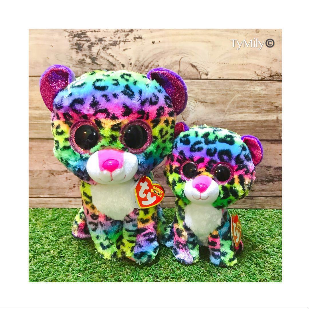 Ty Beanie Boos Dotty Rainbow Leopard Plush Toys Games Stuffed