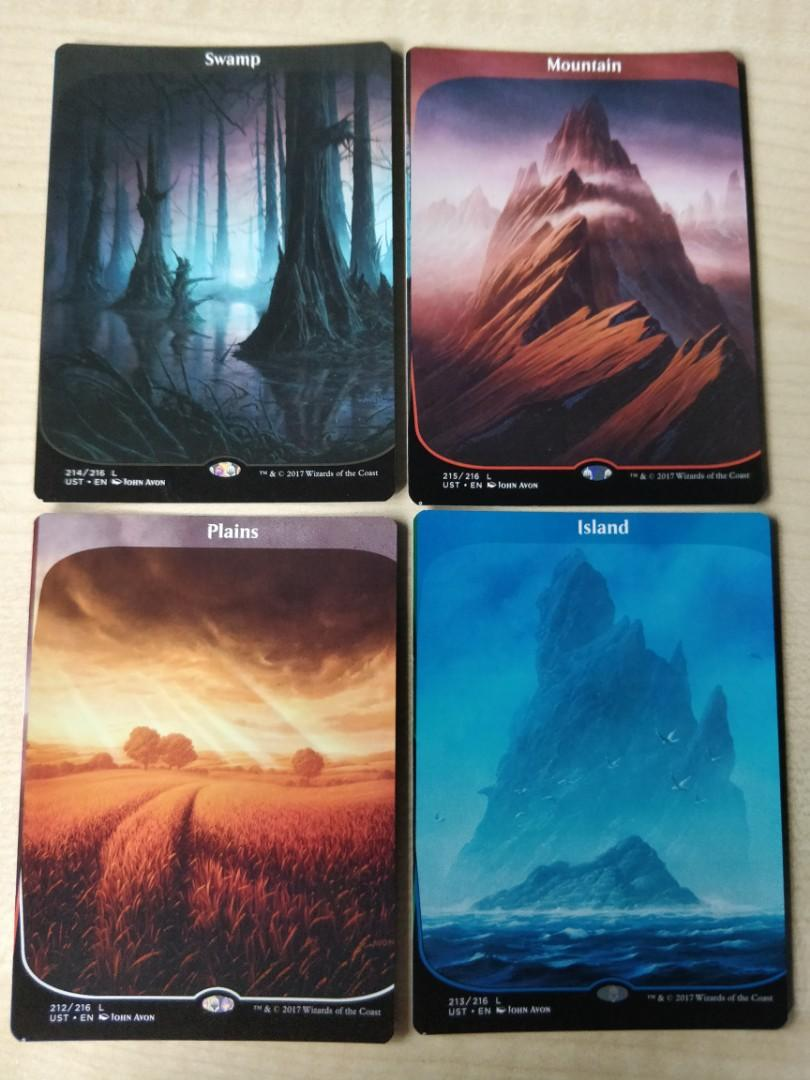 Island,Mountain,Plains,Forest,Swamp 1 x Full set of Unstable Land ----N//M