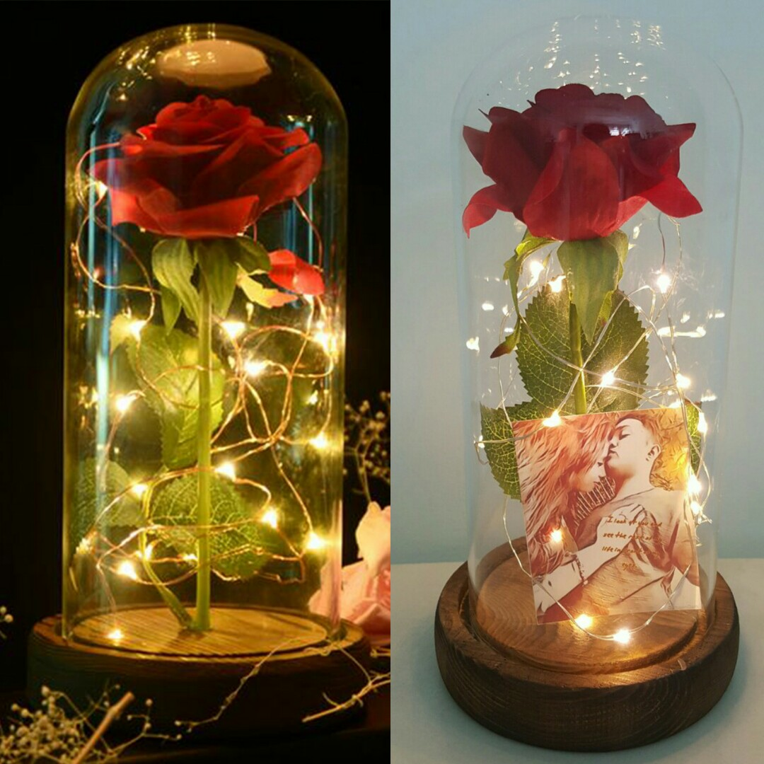 Valentines Day Gift Idea Customized Beauty And The Beast Rose Jar