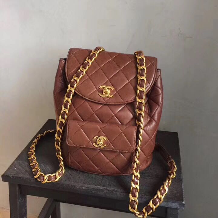c67c063d5255 【Vintage】Authentic Chanel Duma Backpack Lambskin, Luxury, Bags & Wallets on  Carousell