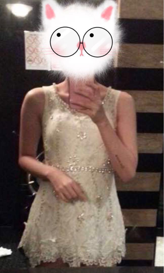 White Lace Diamond Romper Jumpsuit