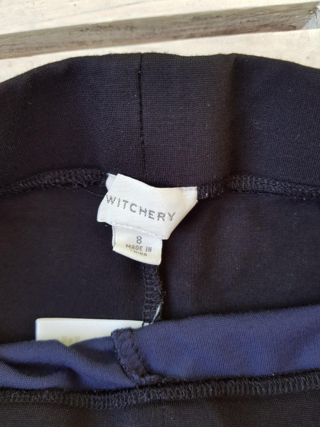 WITCHERY blue and black ponte pant.