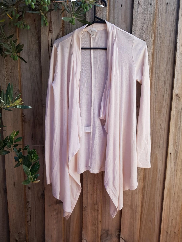 WITCHERY light pink wool cardigan. Size XS.