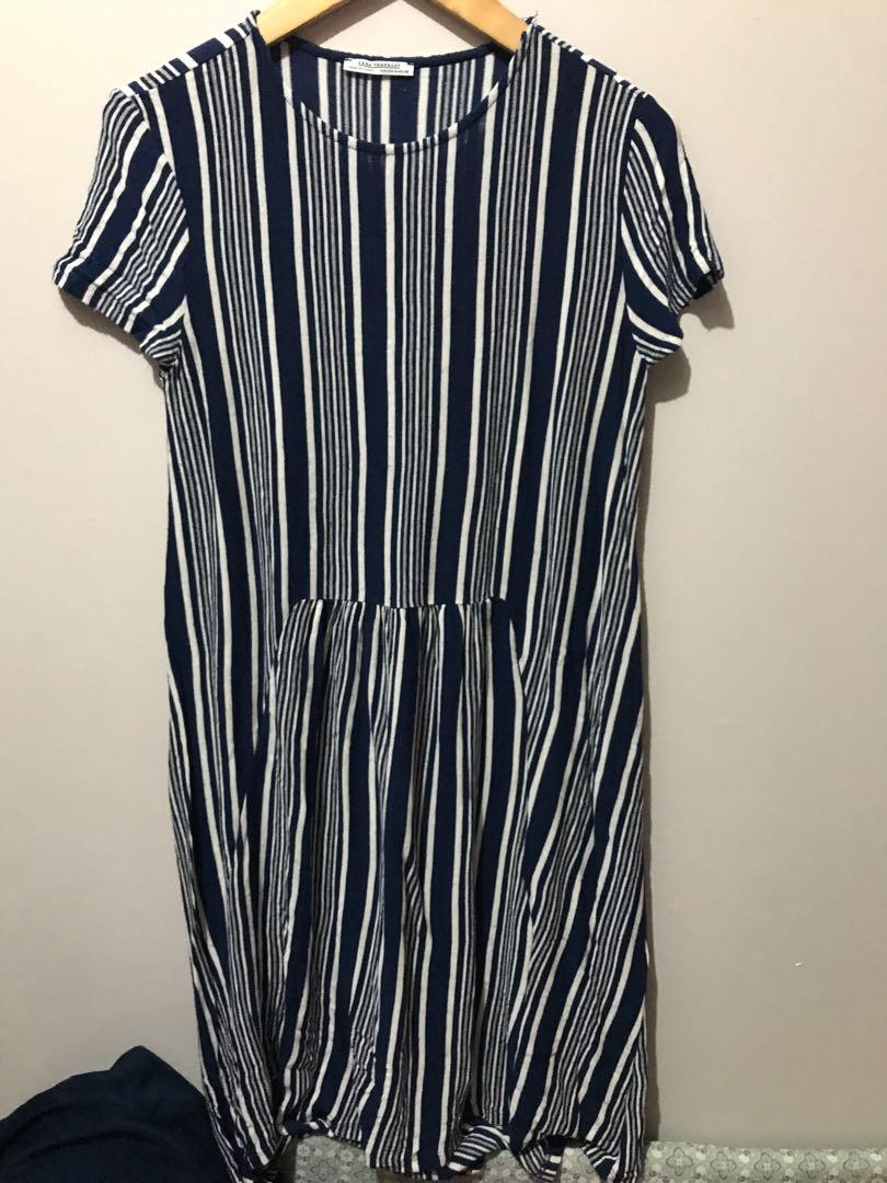 2f47566464 zara dress bahan knit size M bs sampai L
