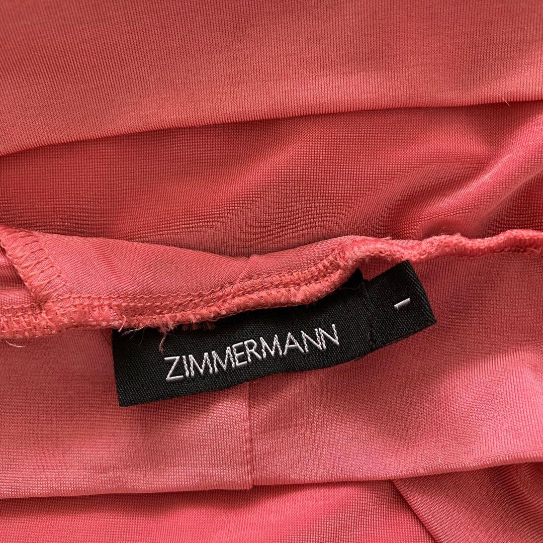 Zimmermann halter neck low back tie up pink top - vintage - size 1