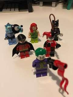 Lego 人仔 Minifigures - Joker, Poison Ivy, Robin, Catwoman & Mr Freeze