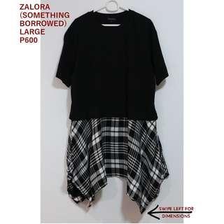 Zalora Black and White Gingham Dress