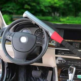 Steering wheel lock.