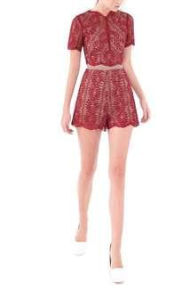 Doublewoot Lace Romper #cnycs