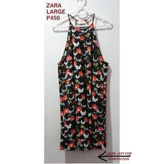 Zara Printed Halter Dress  New, no tag  Never worn  Large  With measurements, DM me for details . Shipping Fees: 1-2 items: P80 3 or more: Free  Courier is Fastrack/JRS . Viber 09154246913