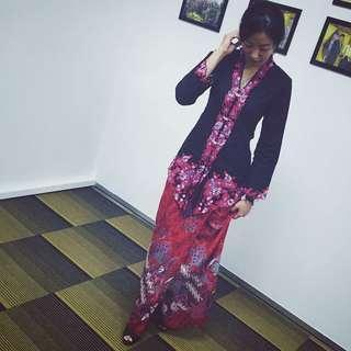 Black and red kebaya