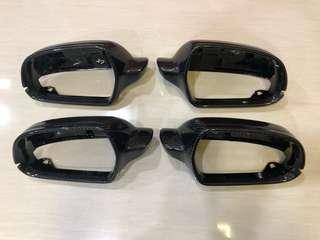 CARBON FIBER SIDE MIRROR CAPS OVERLAY A4 A5 A6 A7 A8 Q3 Q5 Q7 B8 B8.5 B9