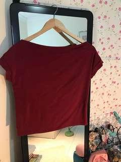CNY sale- Maroon red top