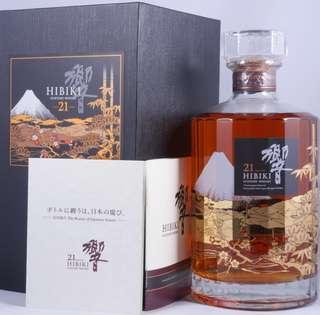 Hibiki 21 limited edition Mt Fuji (&Hibiki 17 miniature)