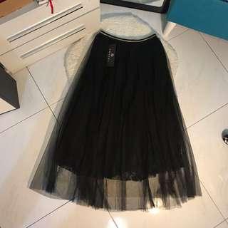CNY sale- black lace skirt