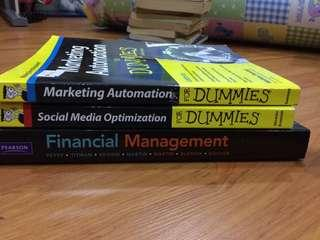 Marketing and financial books