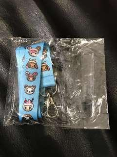 BN Tokidoki blue lanyard with card pouch