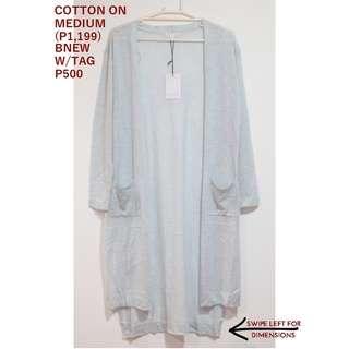 Cotton On Light Blue Long Cardigan