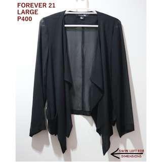 Forever 21 Black Sheer Cardigan
