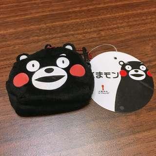 日本 熊本熊 小零錢包吊飾