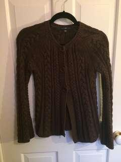 Brown wool cardigan