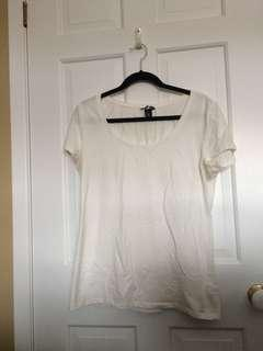 Plain white tee H&M