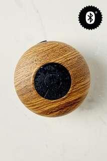 Dark Woodgrain Waterproof Shower Speaker by Typo