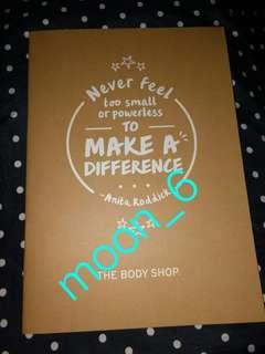 The Body Shop 2019 Planner