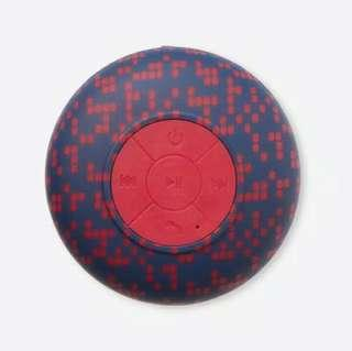 Navy and Red Polca Waterproof Shower Speaker by Typo