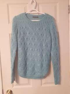 Blue Suzy Shier knot sweater
