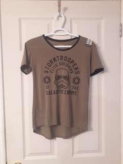 Star wars t shirt with tags