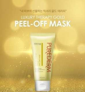 New! Purederm Luxury Therapy Gold Peel off Mask